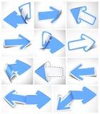 Flechas de papel ilustración del vector