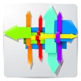 Flechas de papel del color Fotos de archivo