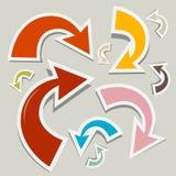 Flechas de papel del vector fijadas Imagen de archivo libre de regalías