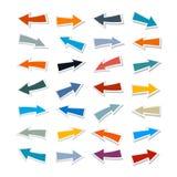 Flechas de papel fijadas Imagen de archivo libre de regalías