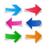 Flechas de papel fijadas Foto de archivo libre de regalías