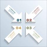 Flechas de papel infographic Fotografía de archivo libre de regalías