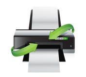 Flechas de torneado de la impresora Fotografía de archivo libre de regalías