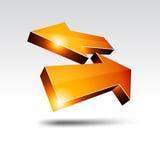 flechas de vuelta 3d. Imagen de archivo libre de regalías