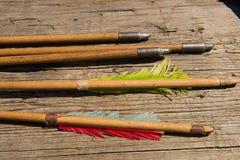 Flechas del arco Fotografía de archivo libre de regalías