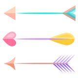Flechas del arco Vector Imagen de archivo
