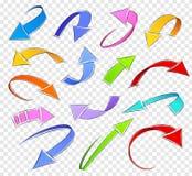 Flechas del bosquejo Foto de archivo