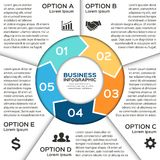 Flechas del círculo del vector para el negocio infographic Fotografía de archivo