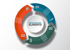 Flechas del círculo del vector para infographic Plantilla para el diagrama, grap Foto de archivo libre de regalías