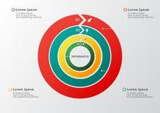 Flechas del círculo del vector para infographic Plantilla para el diagrama, grap Fotos de archivo libres de regalías