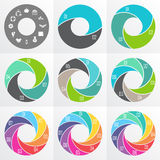 Flechas del círculo para infographic Imagenes de archivo