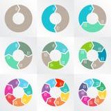 Flechas del círculo para infographic Foto de archivo libre de regalías
