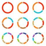 Flechas del círculo para infographic Fotografía de archivo libre de regalías