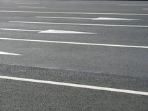 Flechas del camino Fotografía de archivo