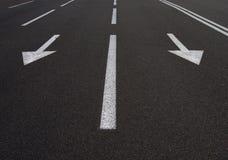 Flechas del camino Imagenes de archivo