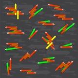 Flechas del color Imagen de archivo libre de regalías