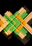 Flechas del color en fondo negro Fotos de archivo