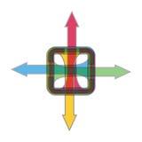 Flechas del color para su diseño Imagen de archivo libre de regalías