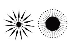 Flechas del compás Foto de archivo