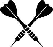 Flechas del dardo de los dardos cruzadas stock de ilustración