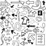 Flechas del Doodle Fotos de archivo