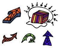 Flechas del drenaje Ilustración del Vector
