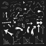 Flechas del garabato del vector fijadas Imagen de archivo