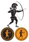 Flechas del gladiador Fotos de archivo