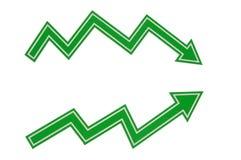 Flechas del gráfico Imagen de archivo libre de regalías