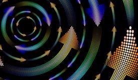 Flechas del mosaico Imagen de archivo libre de regalías