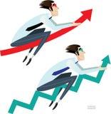 Flechas del negocio fijadas libre illustration