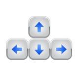 Flechas del teclado Fotografía de archivo