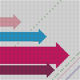 Flechas del vector Imagenes de archivo