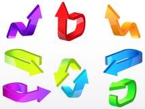 Flechas del vector Fotos de archivo libres de regalías