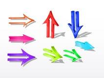 Flechas del vector Foto de archivo libre de regalías