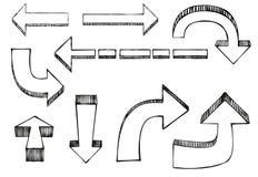 Flechas del vector stock de ilustración
