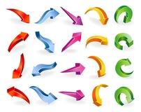 flechas del vector 3D Fotografía de archivo libre de regalías