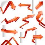 flechas del vector 3D Imagen de archivo