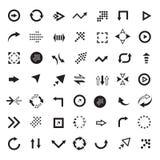 Flechas del vector fijadas Fotos de archivo libres de regalías