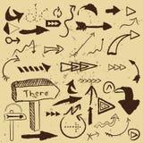 Flechas del vector fijadas Imagen de archivo