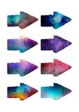Flechas del Watercolour Fotografía de archivo