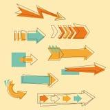 Flechas determinadas del Doodle Foto de archivo libre de regalías