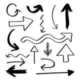Flechas dibujadas mano ilustración del vector