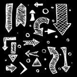 Flechas dibujadas mano aisladas del vector Fotografía de archivo libre de regalías