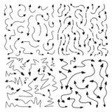 Flechas dibujadas mano del vector Imagen de archivo libre de regalías