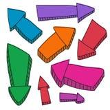 Flechas dibujadas mano del vector Fotos de archivo libres de regalías