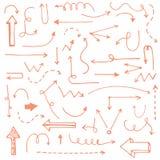 Flechas dibujadas mano perfecta del vintage hechas en vector Imagen de archivo