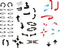 Flechas direccionales Imagen de archivo