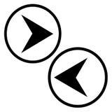 Flechas direccionales del ordenador Imagen de archivo