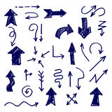 Flechas drenadas mano stock de ilustración